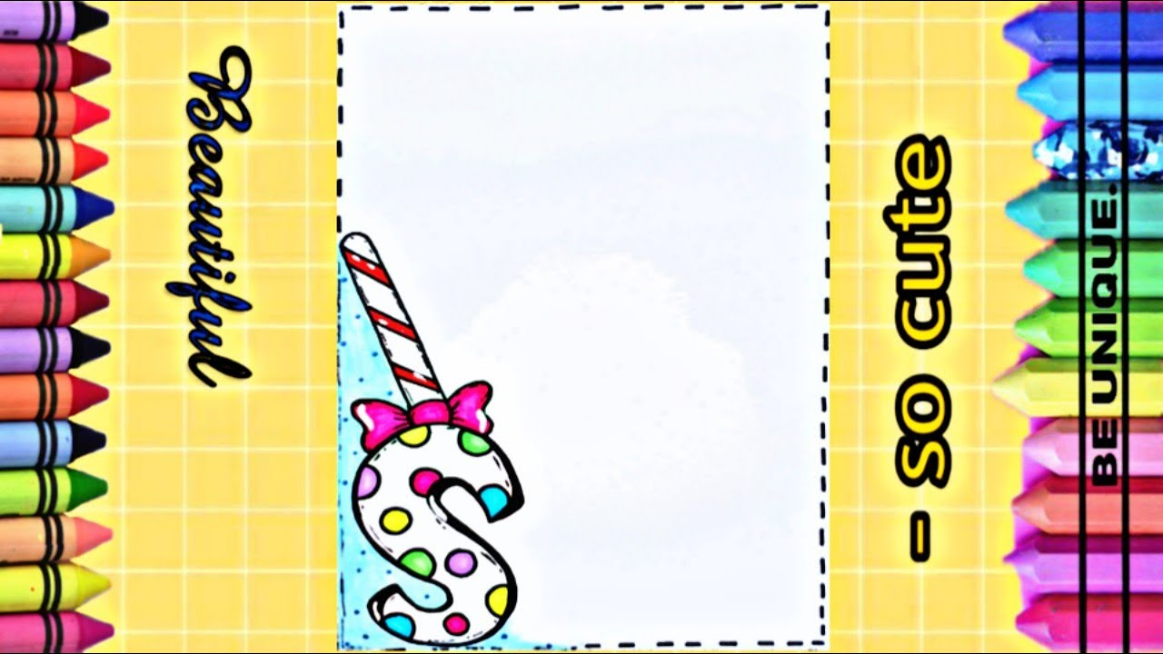 Drawing To Decorate Notebook Lettre S تعليم الرسم تزيين دفاتر مدرس
