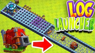 "Download New LOG LAUNCHER weapon!! ""Clash Of Clans"" New Siege machine!"
