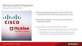 Cisco pxGrid ISE Integration with McAfee DXL 4.0