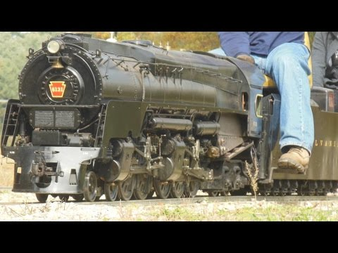 live steam Pennsylvania PRR Q2 Prototype model train Mill Creek Central duplex 2016