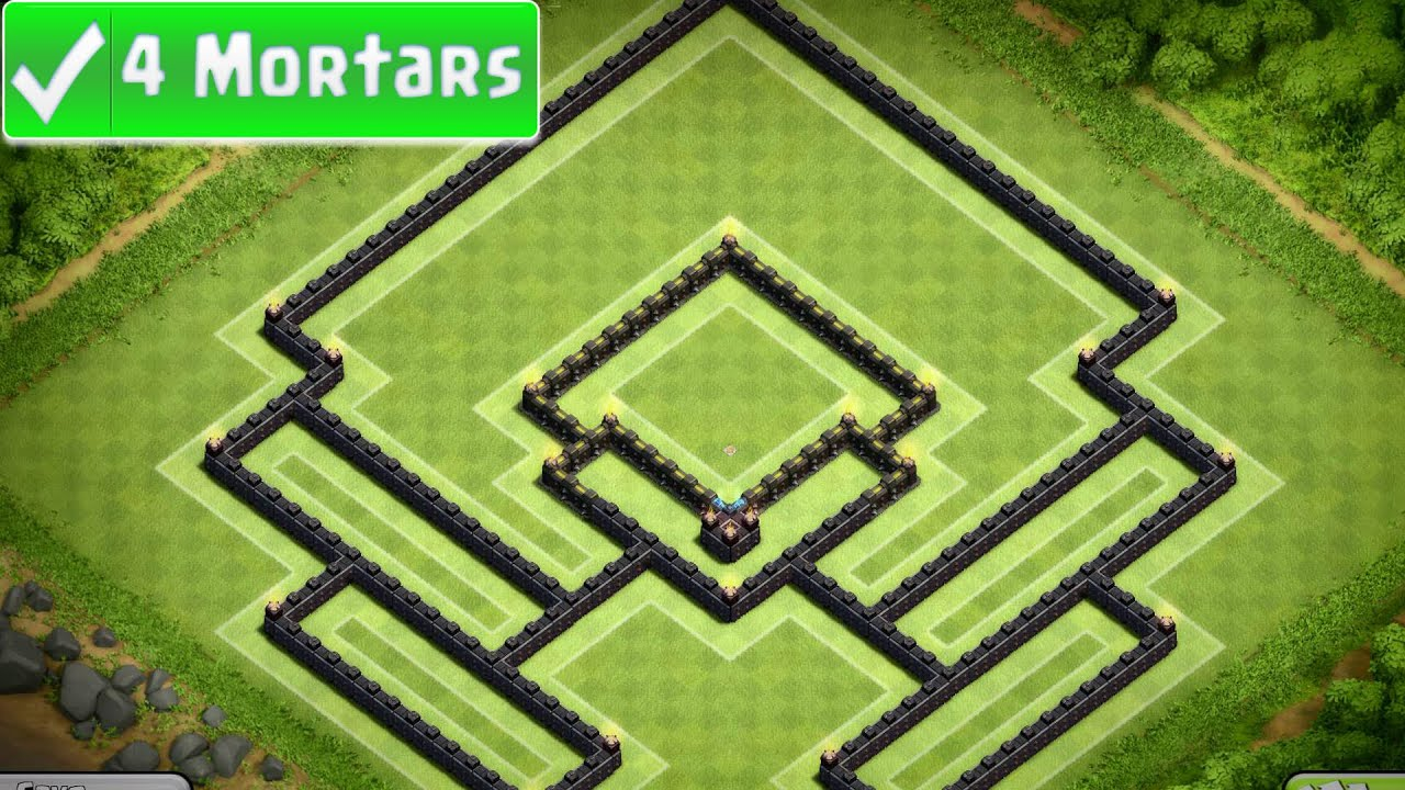 Clash of clans champions town hall 10 trophy base aella 4 mortar