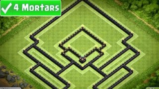Clash of Clans - Champions Town Hall 10 Trophy Base (Aella) 4 Mortar - Speed Build