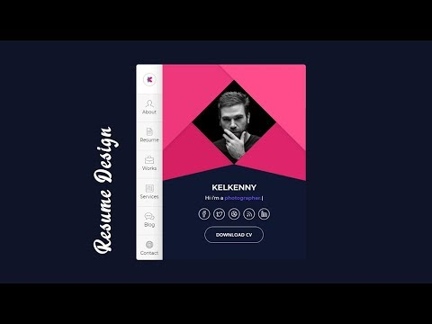 Creative Resume Design Using HTML & CSS