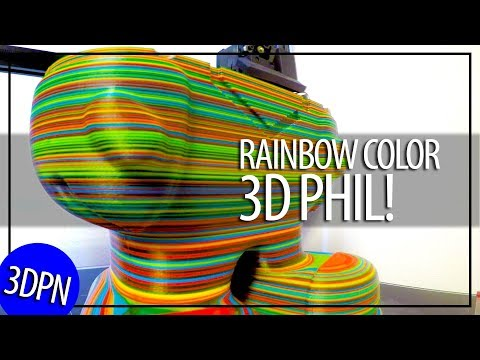 3D Printing #3dPhil from Matterhackers using Repkord Filament and the Mosaic Palette+