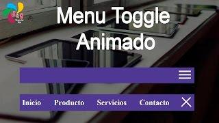 Menu toggle animado con HTML(Jade), CSS y Javascript