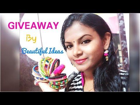 Beautiful Ideas /GIVEAWAY ( Silk thread Designer Bangles)...