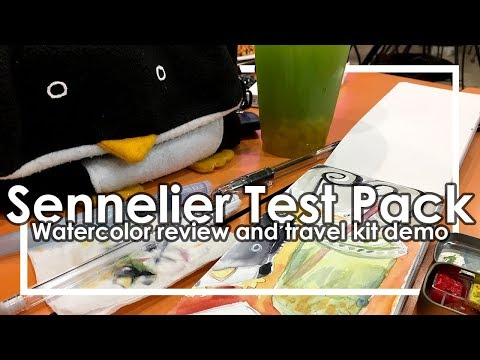 sennelier-test-pack-watercolor-review-best-professional-paints-for-beginners?