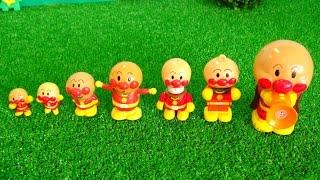 アンパンマンおもちゃアニメ アンパンマンの背くらべ 一番は誰かな? 歌 映画 テレビ Anpanman Toys thumbnail