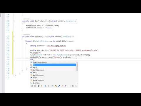 POS C# tutorial 3 (Saving datagridview data to a table) thumbnail