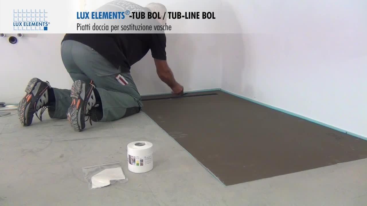 Vasca Da Bagno Montaggio : Montaggio lux elements: piatti doccia a filo pavimento tub bol in