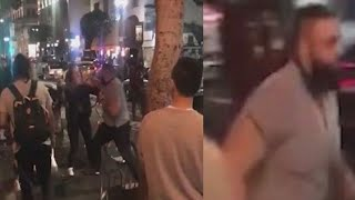 Guy Brutally Punches 2 Women at Hot Dog Stand in LA