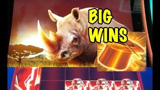 BIGGEST WINS: Raging Rhino, Hold Onto Your Hat, Zeus Unleashed