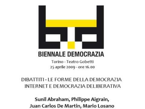 Biennale Democrazia 2009 - Dibattiti - Internet e democrazia deliberativa