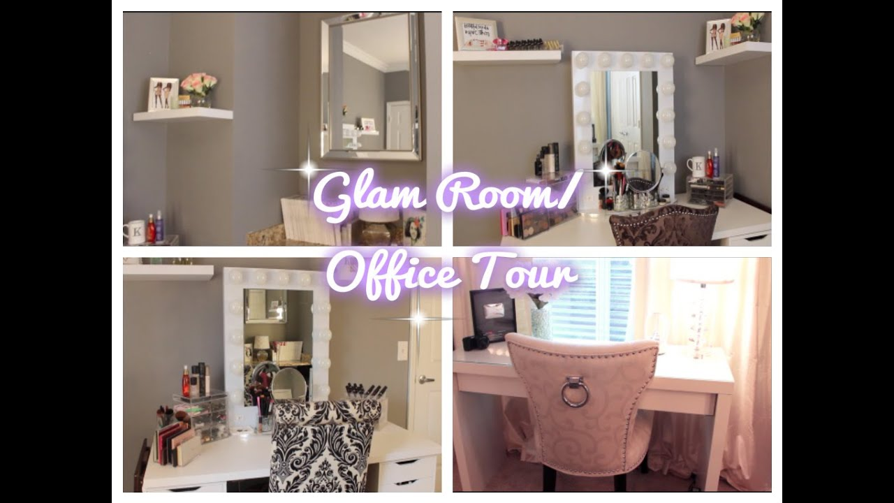Glam Room/ Office Tour - YouTube