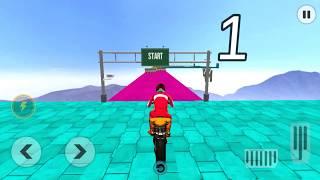Mega Ramp 2019 - Crazy Moto Rider Bike Stunts Game - Gameplay Android game