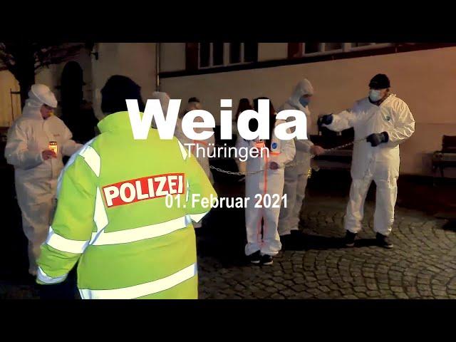 Demo in Weida/Thüringen am 01. Februar 2021