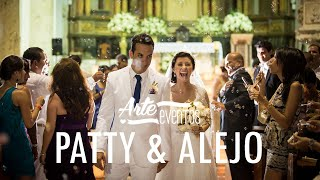 Arte Eventos - Matrimonio Patty y Alejo Cartagena - Bodas espectaculares