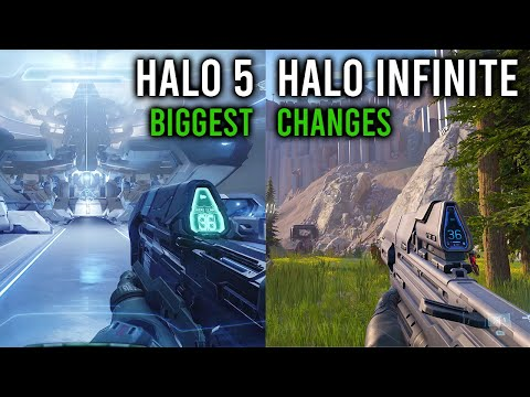 Halo Infinite vs Halo 5: BIGGEST CHANGES [4K VIDEO]
