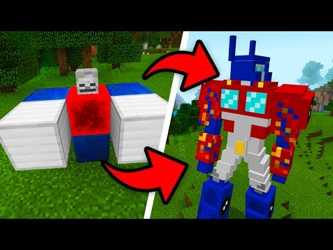How To Spawn TRANSFORMERS in Minecraft Pocket Edition (Transformers Addon)
