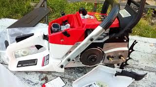 Video descriptivo Greencut gs7200 motosierra.  72cc chinese chainsaw review