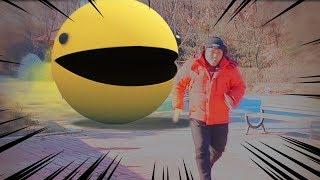 Pacman Real life Game 2  팩맨이 또...또 나타났다?!?! (팩맨 실사판)