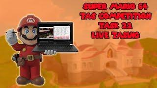 Super Mario 64 - TAS Competition Task 22 - Live TASing