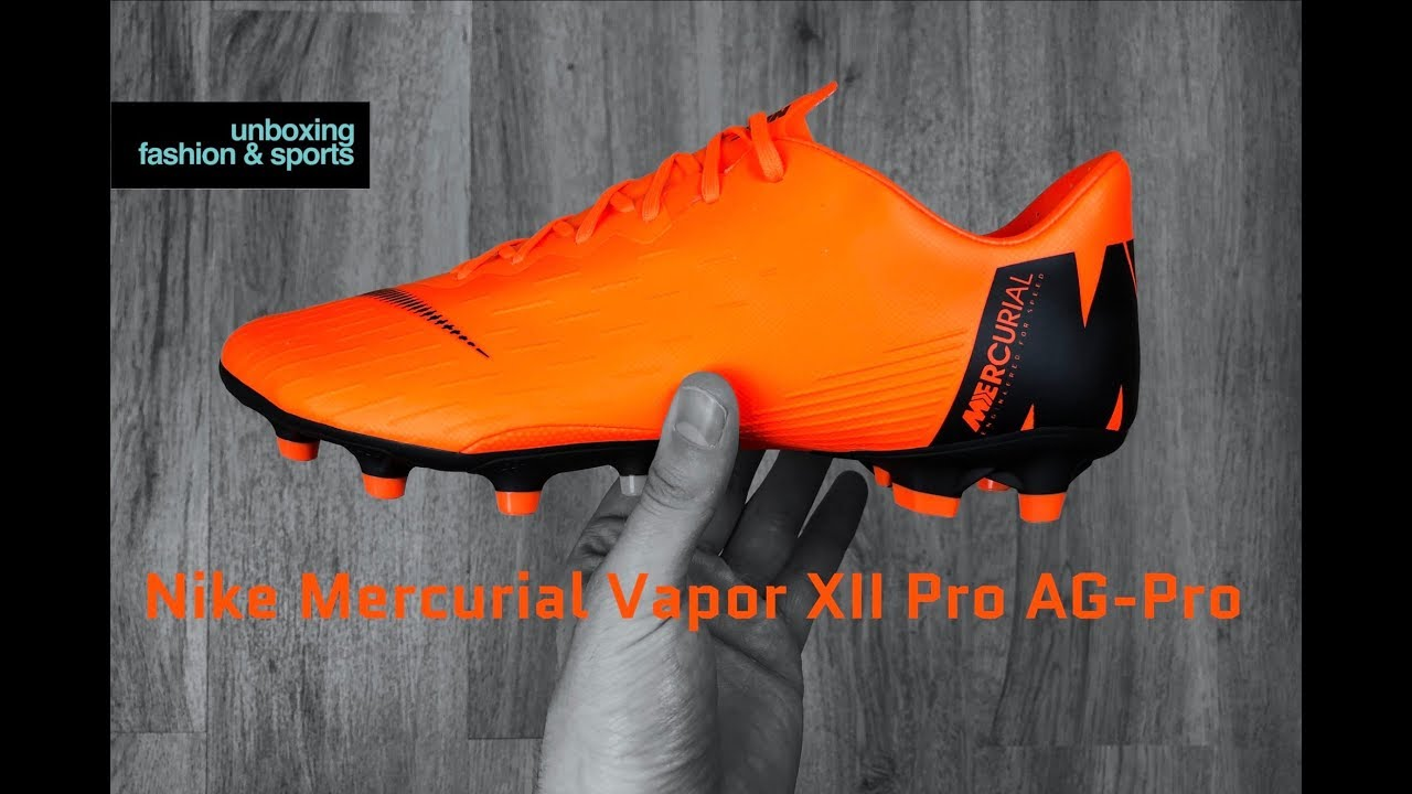 Nike Mercurial Vapor XII Pro AG-Pro Fast AF Pack  UNBOXING  football  boots  2018  4K