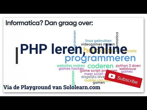 PHP leren online - via Sololearn - Playground - YouTube