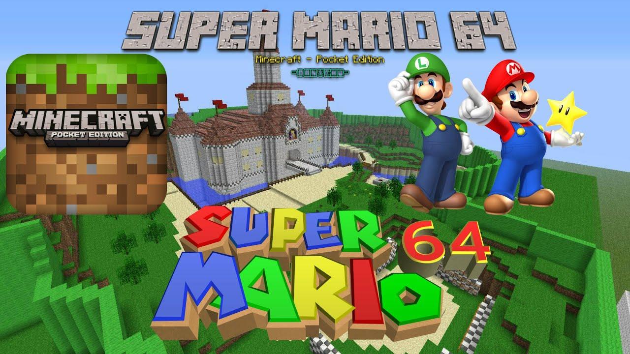 Super Mario 64 MCPE 0.10.0 & 1.1.2 - YouTube