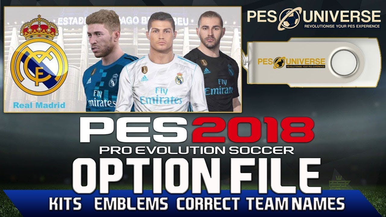 aab97b02c PES 2018 Option File PS4 PC - Kits