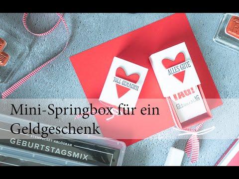 Mini-Springbox für ein Geldgeschenk