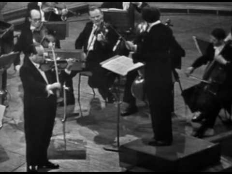 David Oistrakh - Bach Violin Concerto in A minor (3rd mvt.)