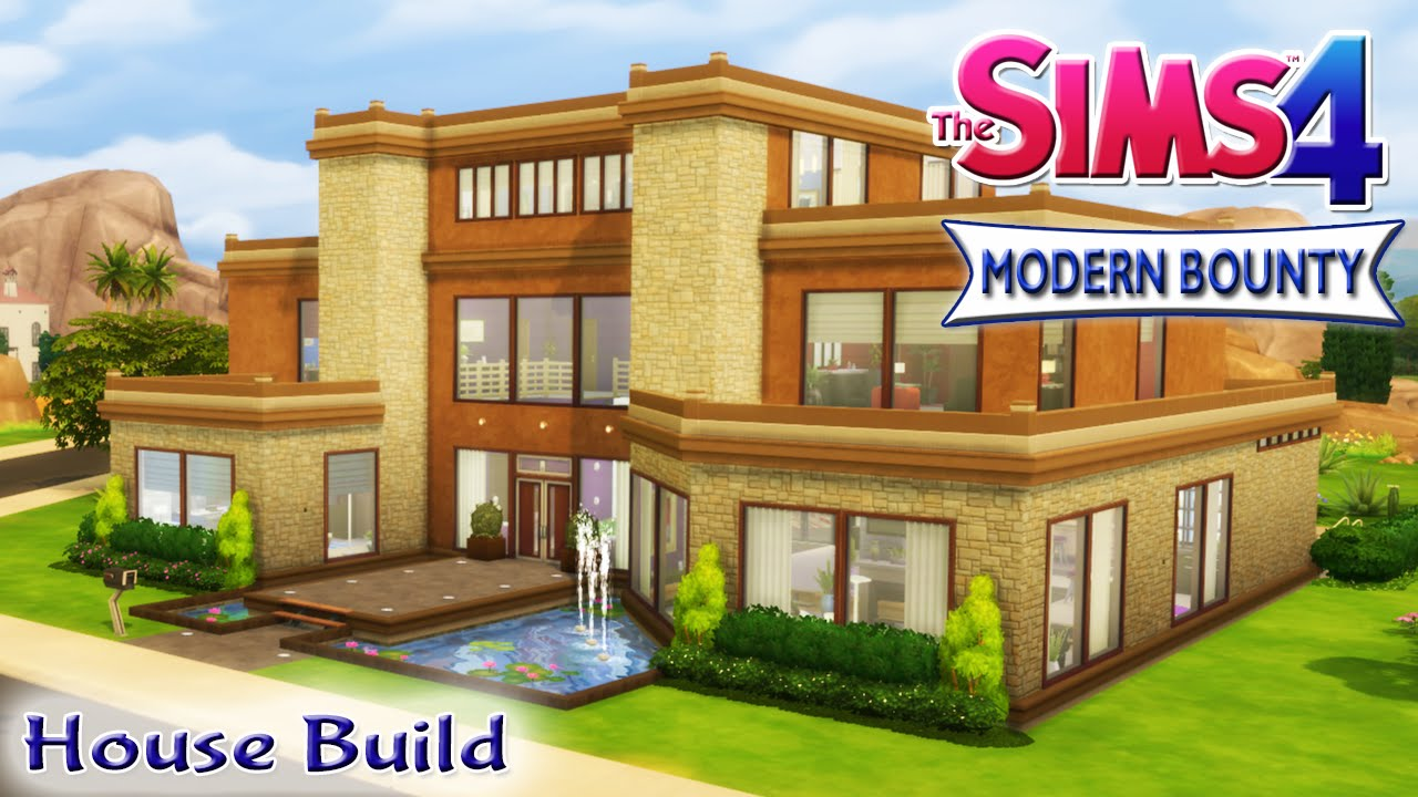 The Sims House Build Modern Bounty Family Home With Pool Youtube