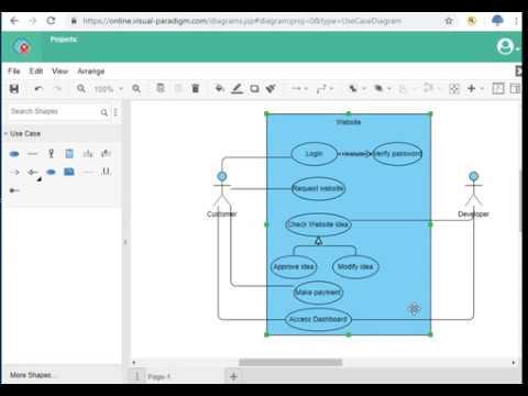 visual paradigm: use case diagram - YouTube