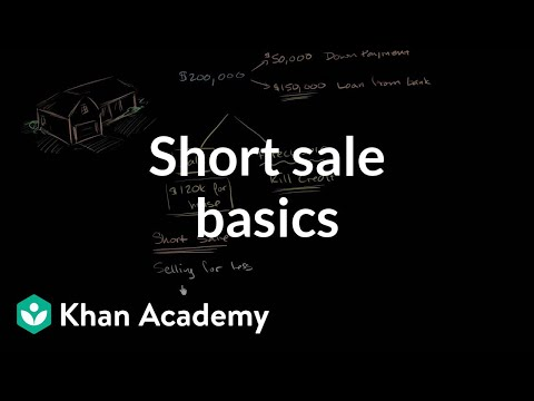 Short Sale Basics | Housing | Finance & Capital Markets | Khan Academy