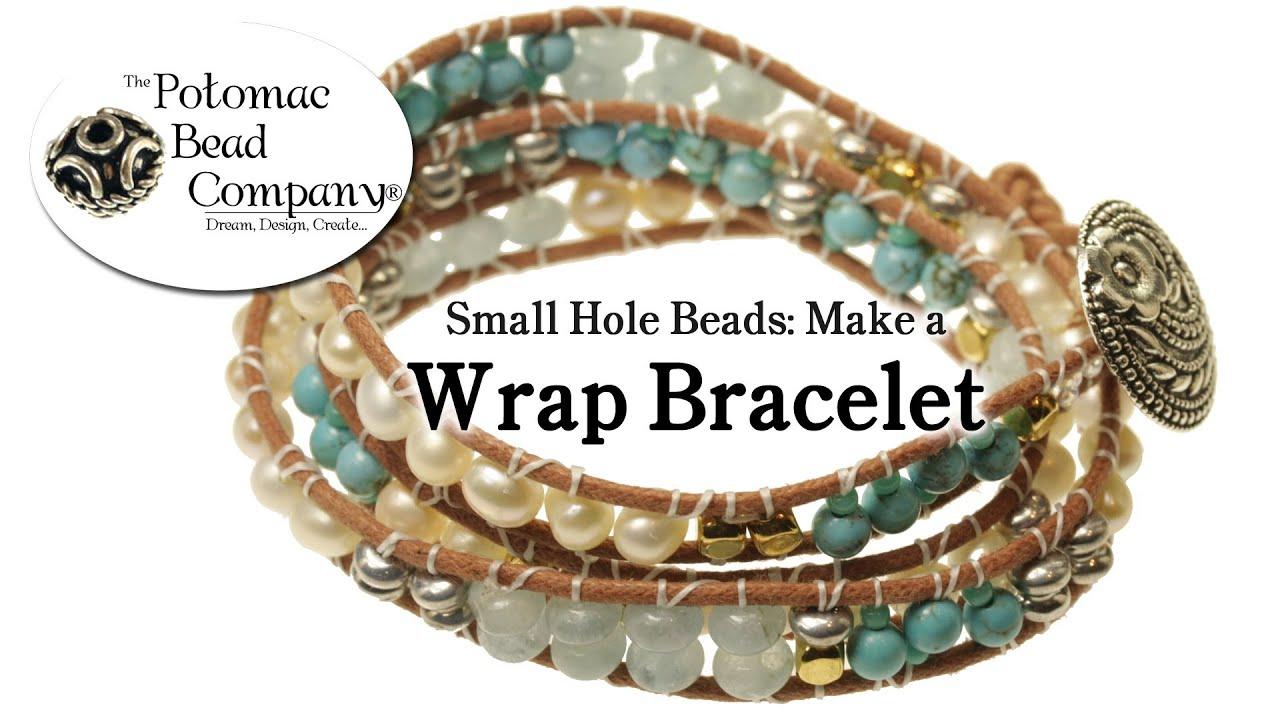 Make A Wrap Bracelet With Small Hole Beads Chan Luu Style
