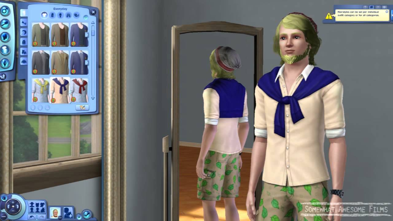 sims 3 university clothing and hair styles - youtube
