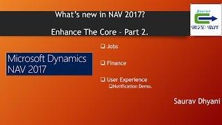 Whats New in Microsoft Dynamics NAV 2017 - Part 2