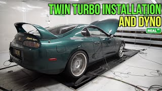 Twin Turbo Installation - Toyota Supra - Tuned By Jay Meagher Of Real Street Performance
