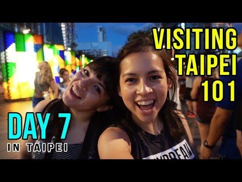EATING IN TAIWAN & VISITING TAIPEI 101   Taiwan Vlog Day 7