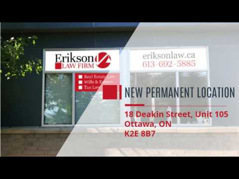 Erikson Law Firm - Your Ottawa Real Estate Lawyer