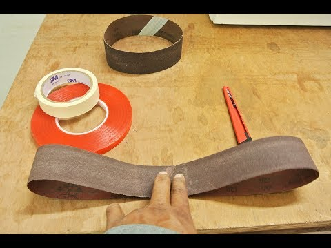 Make Your Own Sanding Belt Quick & Easy