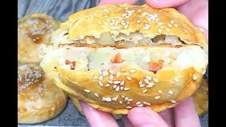 Пирожки с курицей и картошкой без дрожжей на сметане рецепт Shorts