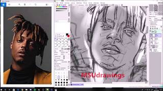 The JUICE WRLD Drawing (Death Race for Love) - MSUdrawings