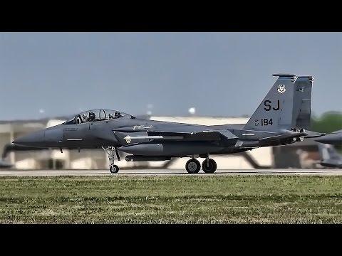 F-15E Strike Eagles Taxi & Takeoff • Seymour Johnson AFB