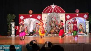 Download Hindi Video Songs - Durge Durge Durgati Nashini - Tampa Puja 2012 Kids Dance