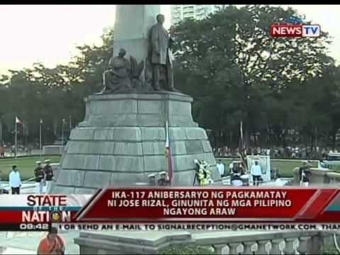 Ika-117 anibersaryo ng pagkamatay ni Jose Rizal, ginunita ng mga Pilipino ngayong araw