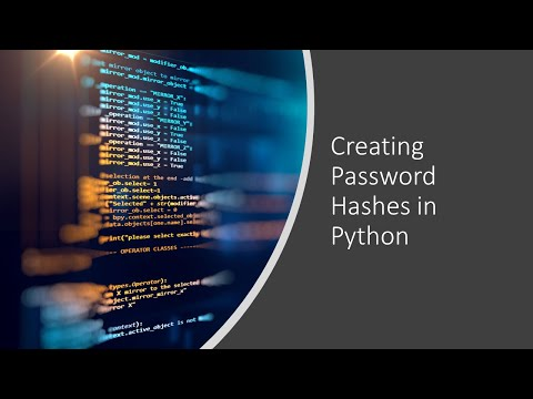 Creating password hashes in Python