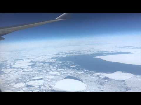 Ice Sheets floating on the Atlantic Sea View from Above - NatashaMorganYouTuber