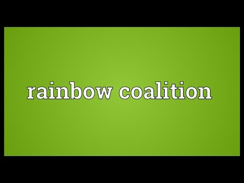Rainbow coalition Meaning